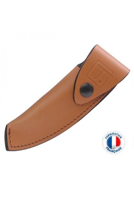 Etui cuir Le Thiers marron clair vertical Poids : 0.150 kg