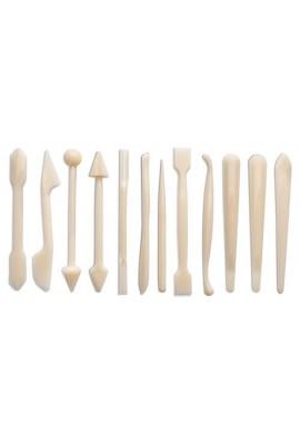 Set de 12 outils pour déco pâte d'amande Poids : 0.250 kg