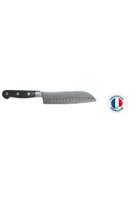 Couteau éminceur SANTOKU alvéolé SABATIER IDEAL FORGE 17 cm Poids : 0,450 kg
