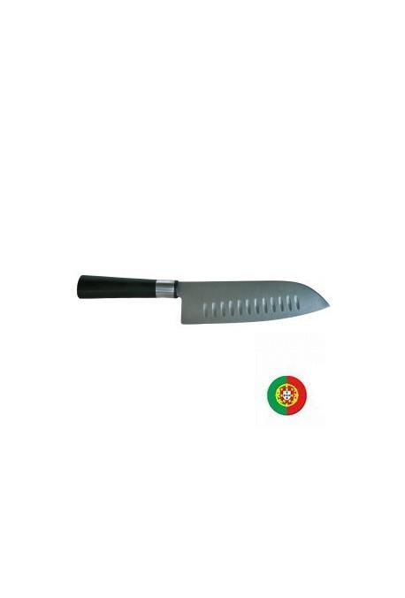 Couteau éminceur ASIAN STYLE type SANTOKU lame alvéolée 18 cm Poids : 0,320 kg